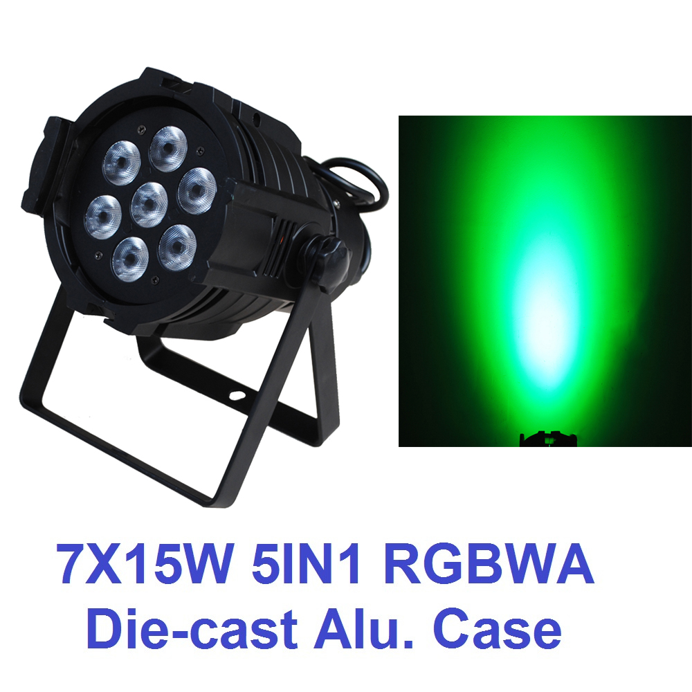 Eyourlife Par Led 7X15W RGBWA 5in1 DJ Stage Par Light DMX Disco Club Lighting Effect for Party Show Factory Price Fast Shipping 3w rgb led dj stage light auto rotating projector disco club ball lamp party show dmx lighting effect battery powered