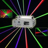 חדש 560 mw/1 W RGB קווי לייזר DJ Scan Beam DMX512 צבע מלא דאנס בר חג המולד המפלגה מועדון דיסקו מופע אור שלב אפקט תאורה X13