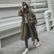 new Fashion 2020 Spring Autumn Coats Women Casual Oversized Large pockets Loose Long Trench