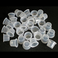 1000Pcs 8*10 Plastic Disposable Tattoo Ink Cups For Permanent Tattoo Makeup Eyebrow Makeup Pigment Container Caps Accessories