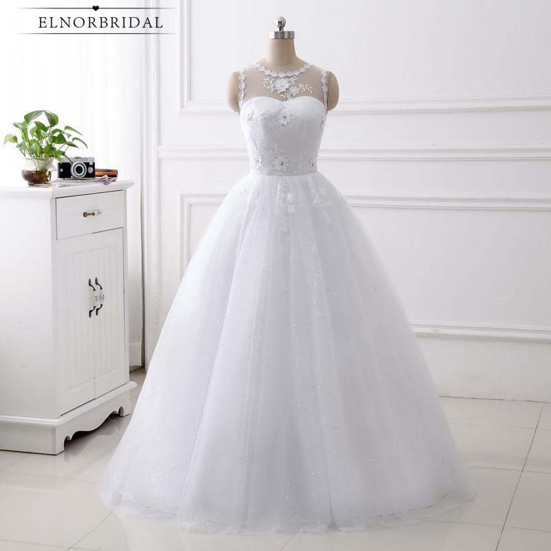 Real Photos Plus Size Wedding Dresses Cheap 2018 A Line Custom Made Bridal Gowns Corset Back Robe De Mariee