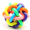 1PCS Colorful Pet Dog Cat Toy Rubber Round Ball with Small Bell Dog Toys S M L Free Shipping