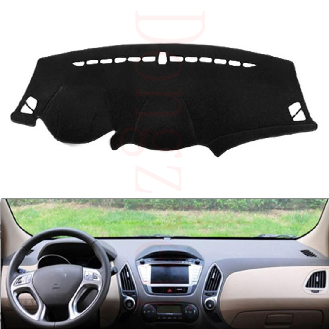 Dongzhen Fit For HYUNDAI iX35 2010 to 2016 Car Dashboard Cover Avoid Light Pad Instrument Platform Dash Board Cover