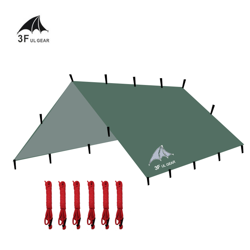 3 3m 210T with silver coating 3F UL Gear outdoor tarp sun shelter high quality beach