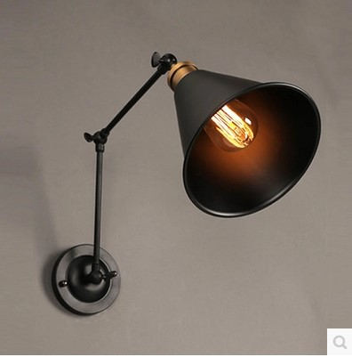60W Retro Loft Style Vintage Industrial Lamp Wall Lights For Home With Arm, Edison Wall Sconce Lamparas De Pared 60w style loft industrial vintage wall lamp fixtures home lighting edison wall sconce arandela lamparas de pared