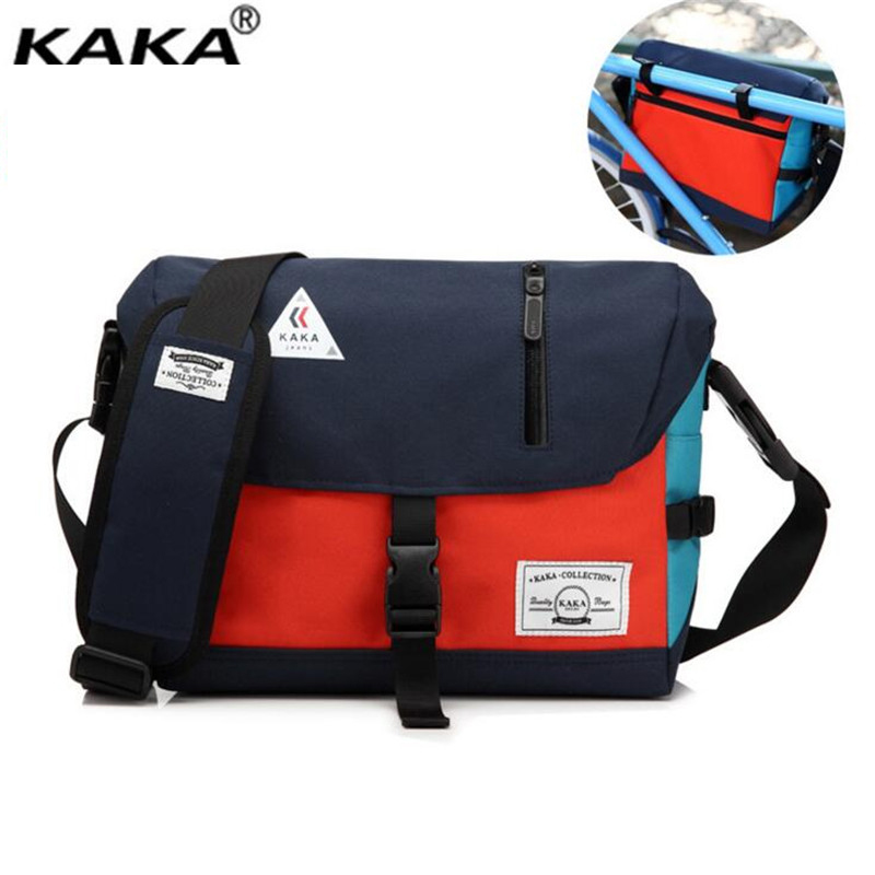 2017 New KAKA Brand Designer Unisex Men Oxford Messenger Bags Korean Style Girl Cross Body Shoulder Bags for A4 Magazine X832 2017 new unisex men messenger bag chest pack brand design korean and japan style simple women shoulder cross body bags for ipad