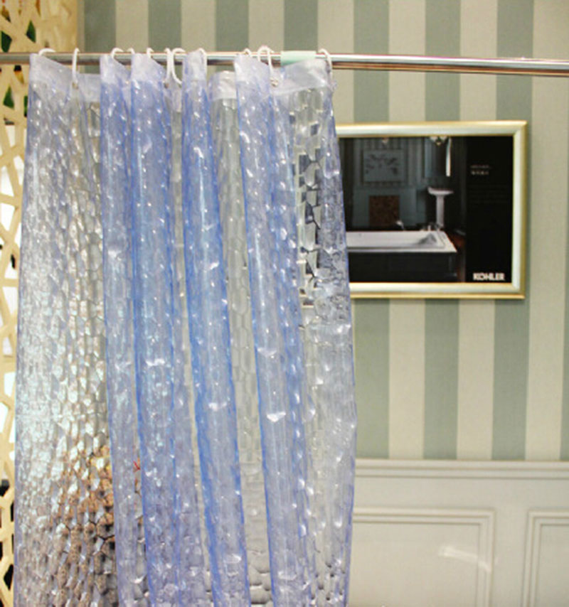 Plastic Bathroom Curtains EVA Water Cube Design 3D Shower Curtain Proof Popular Bath Screen In 180x180cm From Home