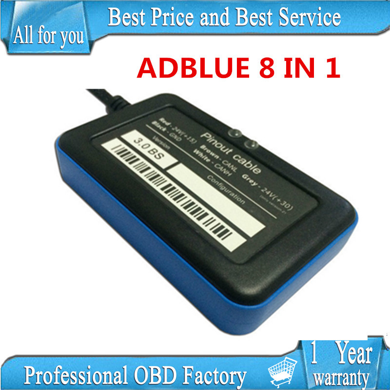 best price in china V3.0 adblue 8in1 with NOx sensor !!! Adblue Emulation ( 8 in 1 ) Module obd ii tool adblue 8 in 1 for Truck