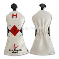 Red Black Geometry Hybrid Heacover Rescue Utility UT Head Cover Pu Leather Elastic Closure Portable Adjustable
