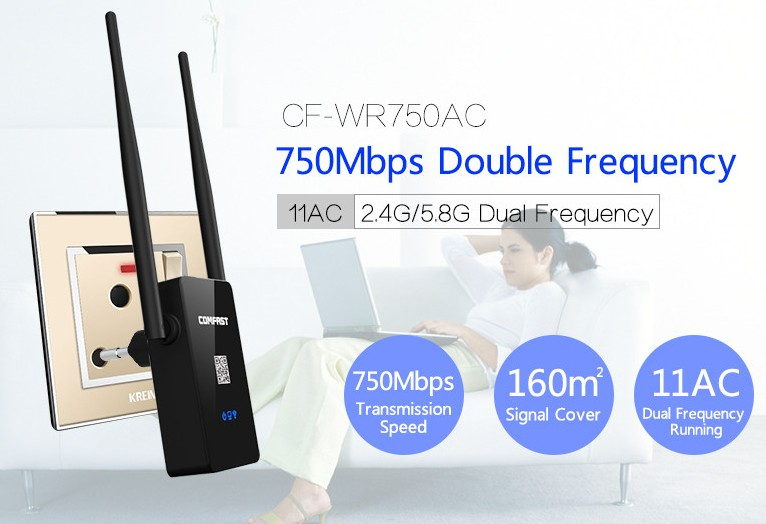 Comfast Dual Band 750Mbps Wifi Repeater Roteador 802 11AC Wireless font b Router b font 2