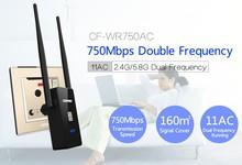 Comfast Banda Dual a 750 Mbps Wifi Repetidor Roteador Router Inalámbrico 802.11AC 2.4 GHz + 5 GHz CF-WR750 AC Wi fi Signa Extender Amplificador