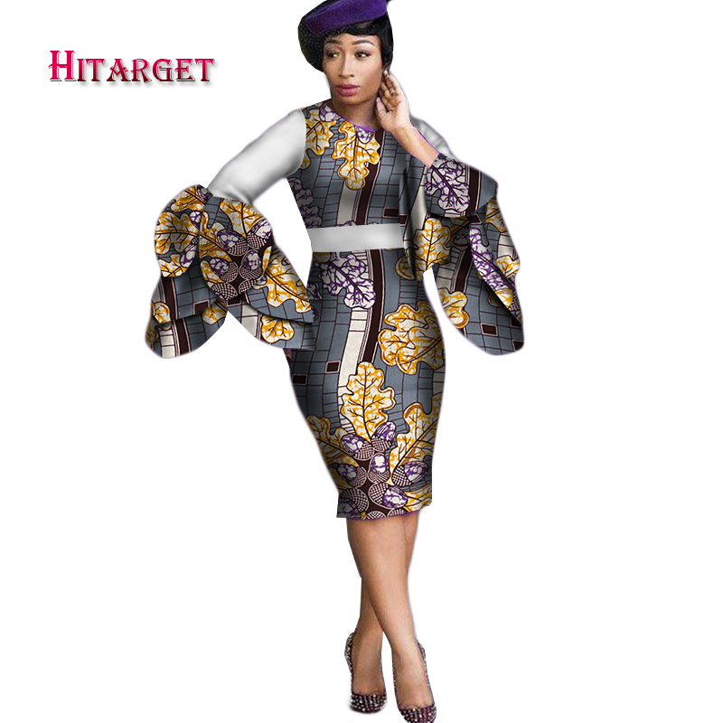 4b96546248e Dashiki Dress 2019 Autumn Long Sleeve Vintage Traditional African ...