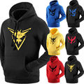 Pokemon Go Team Valor Team Mystic Team Instinct Pokeball Hoodies Sweatshirt Men Clothes