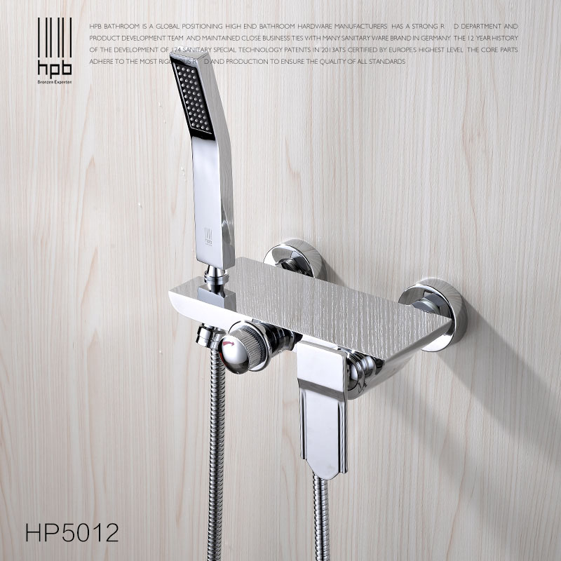 DUERNUO Complete sets Silver Bathroom Shower Faucets Bathtub Faucet Mixer Tap With Hand Shower Sets Body Brass