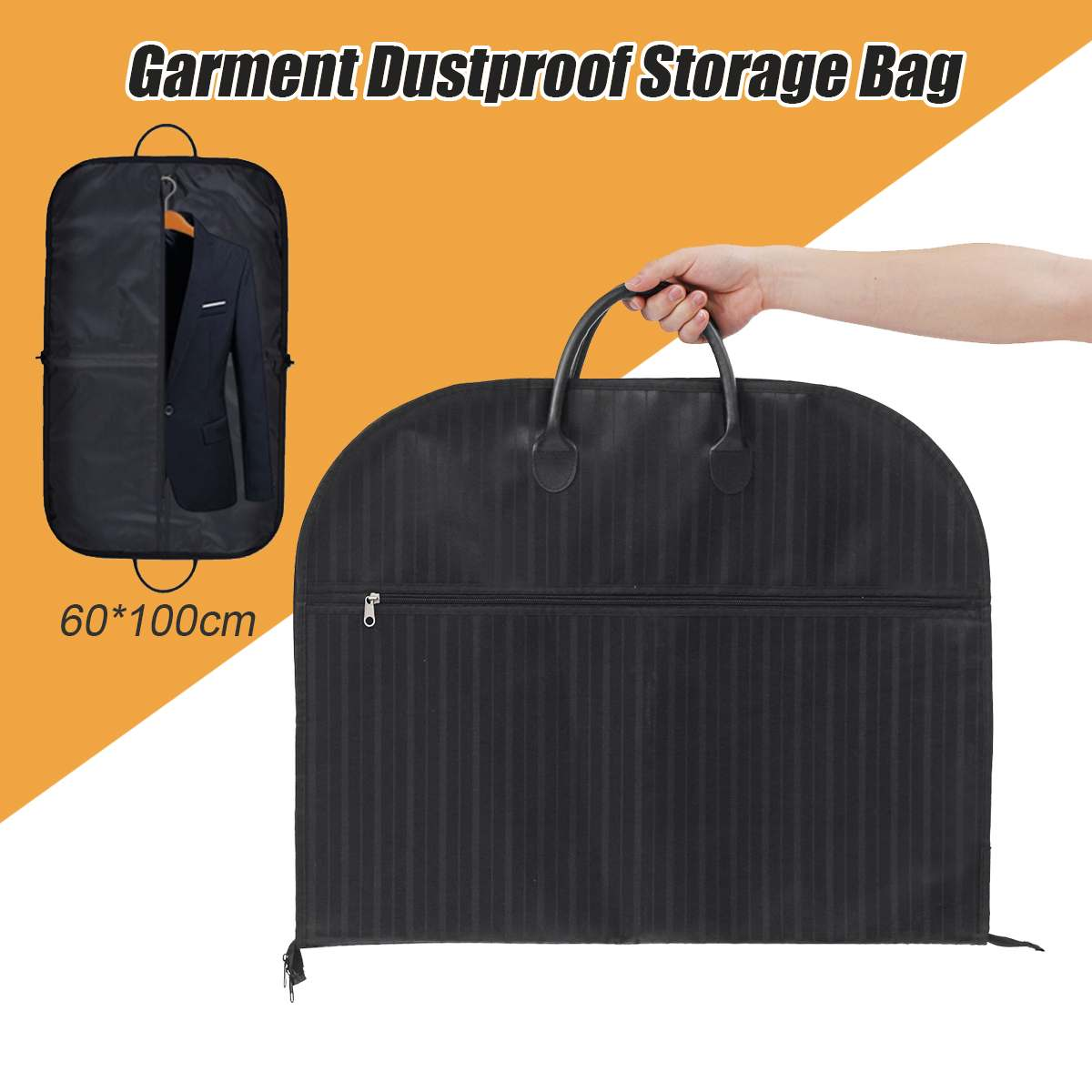 60*100cm Dust-proof Dress Clothes Cover Case Suit Dress Garment Bag Storage Travel Carrier Coat Jacket Home Zipper Protector