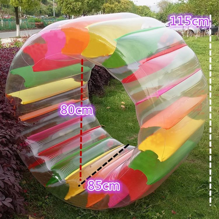 Children's Inflatable Roller ball toy transparent walking wheel water ball outdoor beach ball water swim ring entertainment toys inflatable water spoon outdoor game water ball summer water spray beach ball lawn playing ball children s toy ball