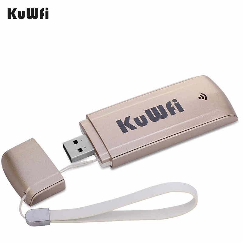 KuWFi USB módem 4G LTE WiFi Dongle móvil red WiFi Hotspot mini 3G 4G WiFi Router de módem con ranura para tarjeta SIM para coche al aire libre