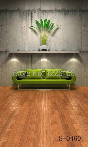 Plancher intérieur numérique gratuit toile de fond de photographie S0460, 10 x10ft toile de fond studio photographie, fond de photographie vinyle