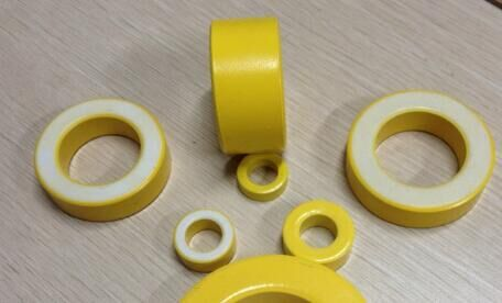 Iron Powder Cores inductor yellow/white coated ferrite ring core T130-26/T90-26/T150-26/T50-26/T184-26.
