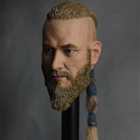 1/6 Scale Head Sculpt Viking Travis Fimmel For Action Figure Muscle Body Part Accessories Hot Toys