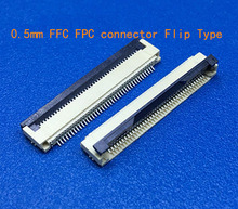 50pcs FFC / FPC connector 0.5 mm 4 Pin 5 6 7 8 10 12 14 16 18 20 22 24 26 18 30 P Bottom Contact Right angle SMD / SMT ZIF