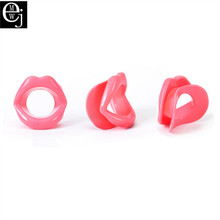 EJMW Rubber BDSM Sex Toys Lips Shaped O Ring Mouth Gag Fetish Adult Sex Toys For Woman Sex Products Oral Toys