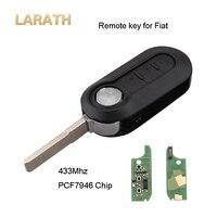 LARATH 433Mhz 3 Button Flip Folding Car Key For Fiat 500 Grande Punto With Circuit Board