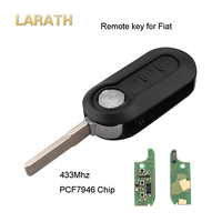 LARATH 433Mhz 3 Button Flip Folding Car Key For Fiat 500 Grande Punto With Circuit Board