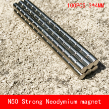 wholesale 100PCS D3*4mm mini cylinder N50 Strong magnetic force rare earth Neodymium magnet diameter 3X4MM