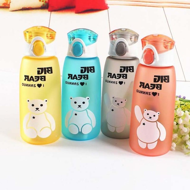 Us 4 96 29 Off 350 480ml Bpa Free Easy Lock Baby Water Bottles Children Health Colorful Nutrition Custom Kids Shaker Cover Bottles In Water Bottles