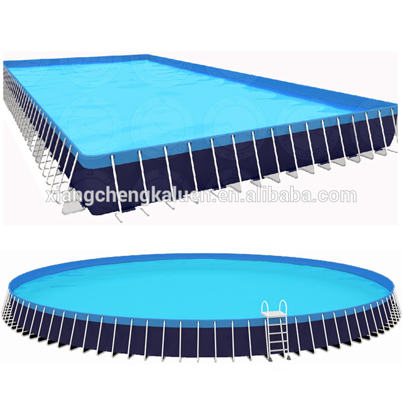 Large Outdoor Water Game Equipment Rectangle Metal Frame Pool For