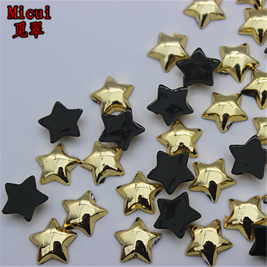 e792727877 US $4.46 23% OFF|Micui 100PCS 10mm five pointed star Flatback Acrylic  Rhinestones Applique Crystal Stones Acrylic Strass For Clothes Craft  ZZ604-in ...