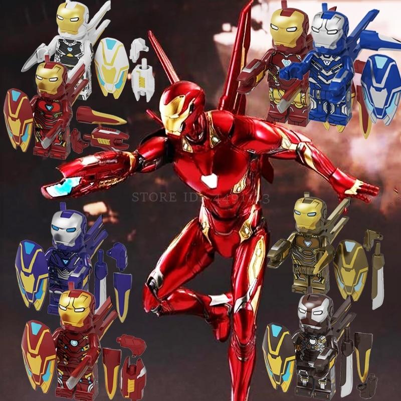 Avengers Endgame Iron Man Spider Man Far From Home Homecoming SpiderMan IronMan Mark 85 Mysterio Blocks Toys Captain Atom Marvel