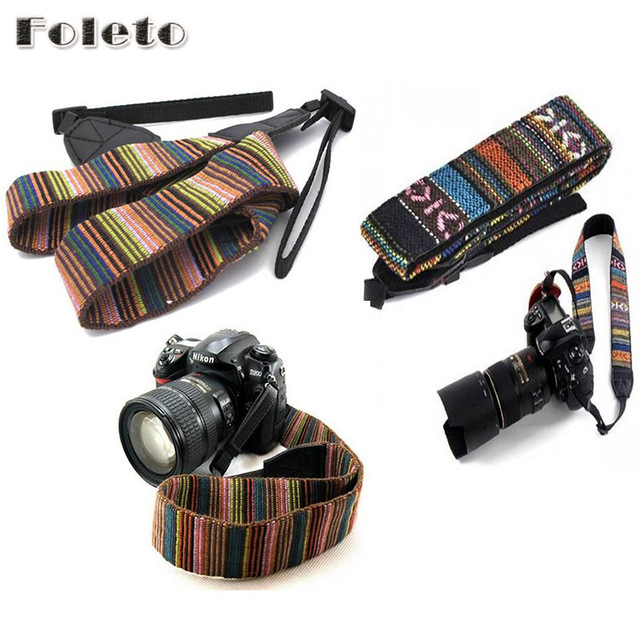 Vintage Camera Strap Shoulder Neck Wrist Strap Antislip Belt Soft Durable Stripe for canon nikon sony pentax Camcorder Camera