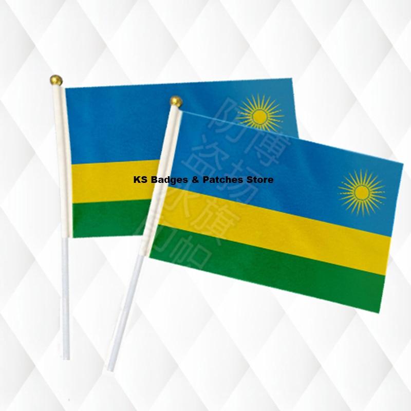 WohltäTig Ruanda Hand Stick Tuch Fahnen Sicherheit Ball Top Hand Nationalen Flaggen 14*21 Cm 10 Stücke Viel Ks-0108 Profitieren Sie Klein Wohnkultur