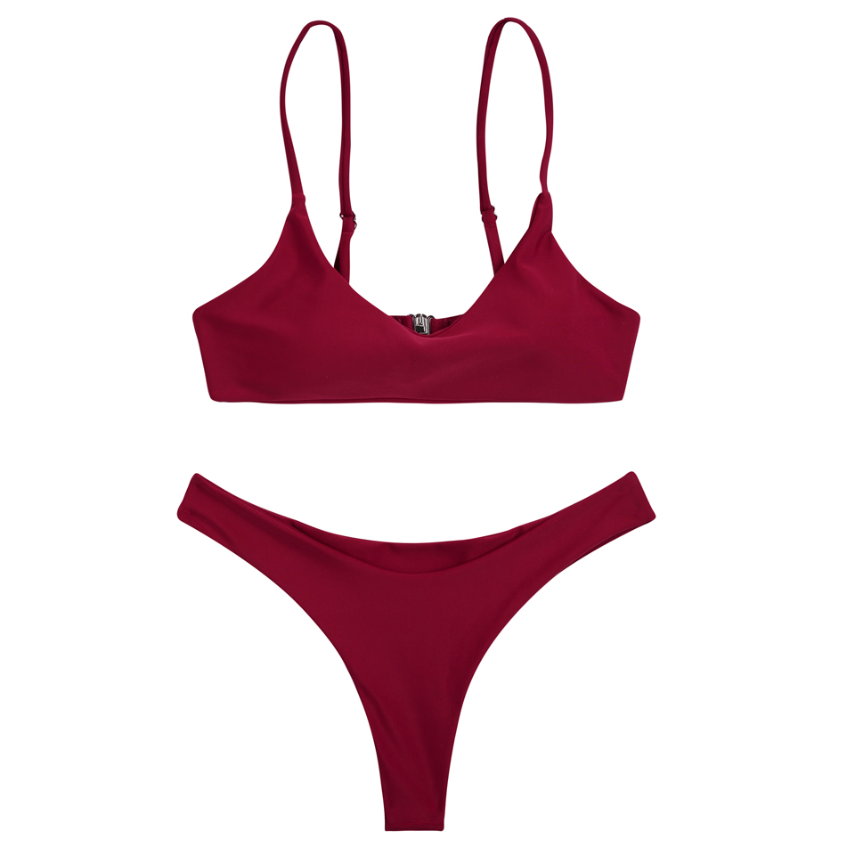 HTB1J.9GbyQnBKNjSZFmq6AApVXaK COSPOT Bikini 2019 Sexy Women Swimwear Brazilian Bikini Push Up Swimsuit Solid Beachwear Bathing Suit Thong Biquini Bikini Set