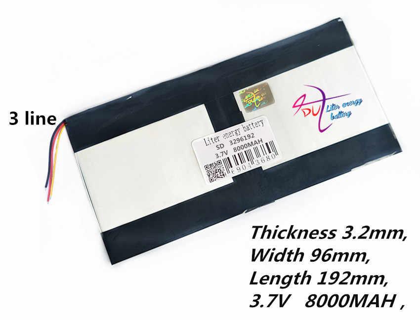 3296192 3.7 v 8000 mAh Voor Teclast X98 air 3G P98 3G v99i Tablet PC Batterij 3 draad perfecte kwaliteit van grote capaciteit alternatieven
