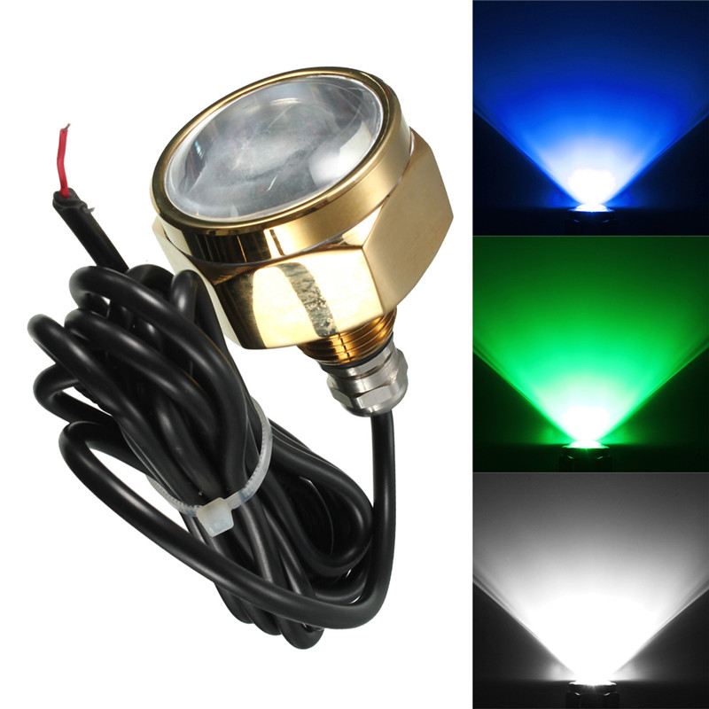 Smuxi 9 LED Boat Drain Plug Light 27W Waterproof IP68 Rate Blue Brightest 1800 Lumens Underwater Boat Lamp Yacht Light