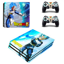 Anime Dragon Ball PS4 Pro Skin Sticker For Sony Playstation 4 Promotion Console & 2Pcs Controller Protection Film Stickers