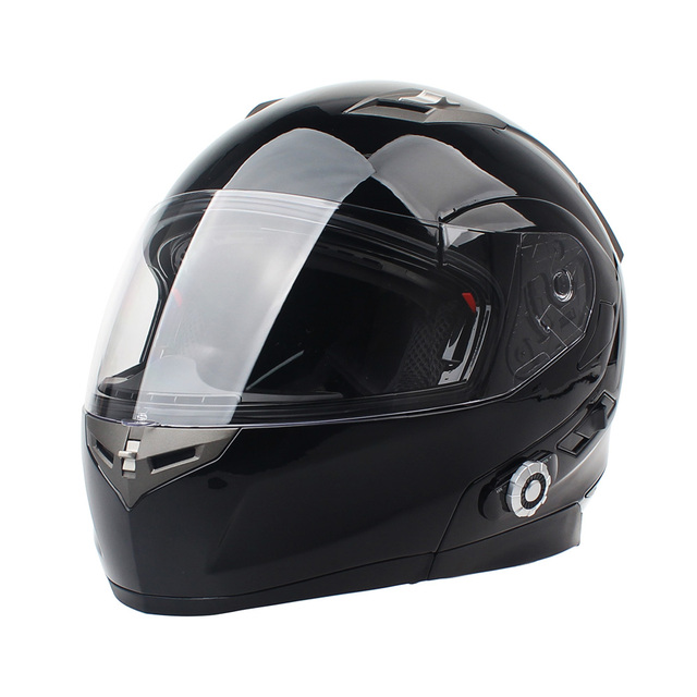 Newly Released! 2017 Built-In Bluetooth Motorcycle Headset 500m BT Headset Full Face Casco BM2-S Helmet With FM Radio