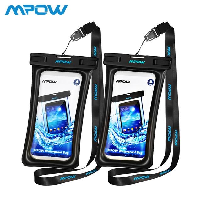 Mpow IPX8 Túi Chống Nước Ốp Lưng Đa Năng Điện Thoại Di Động 6.5 inch Túi Bơi Ốp Lưng Chụp Ảnh Dưới nước Cho iPhone XS samsung Huawei
