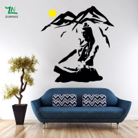 Lord Shiva Wall Sticker Vinyl Hindu God Decals Meditation Stencil Art Gift Living roon BedroomDecoration Mural Home decor