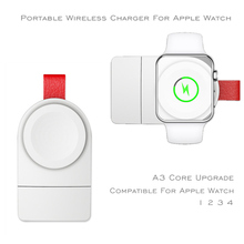 USB Portable Mini Magnetic Wireless Charger For Apple Watch 1/2/3/4 38mm 42mm 44mm Wireless Charging For Apple Watch Series 3 4 42mm 38mm for apple watch s3 series 3