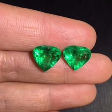 AIGS Cert Jewelry 7.23ct Faceted Vivid Green Natural Emerald Gemstones Loose Gemstones Loose Stone Gems cert