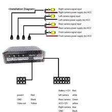 Автомобиль несколько камера s переключатель управления коробка 4 канала для спереди/сзади/справа/слева вид парковочная камера система видео управление на ЖК-дисплей