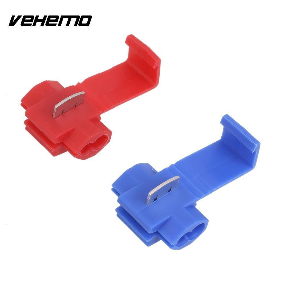 Vehemo Blue 50PCS Premium Practical Wire Connector Tap Terminal ...