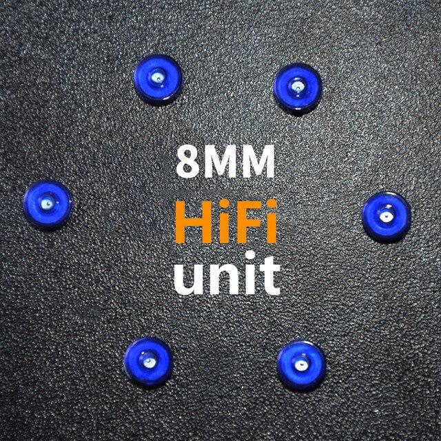 KZ 8mm Dynamique Écouteurs Unité pour Audiophile DIY Meterial Dans L'oreille Casque Basse à bobine Mobile Haut-Parleur HiFi Corne moniteur Écouteur