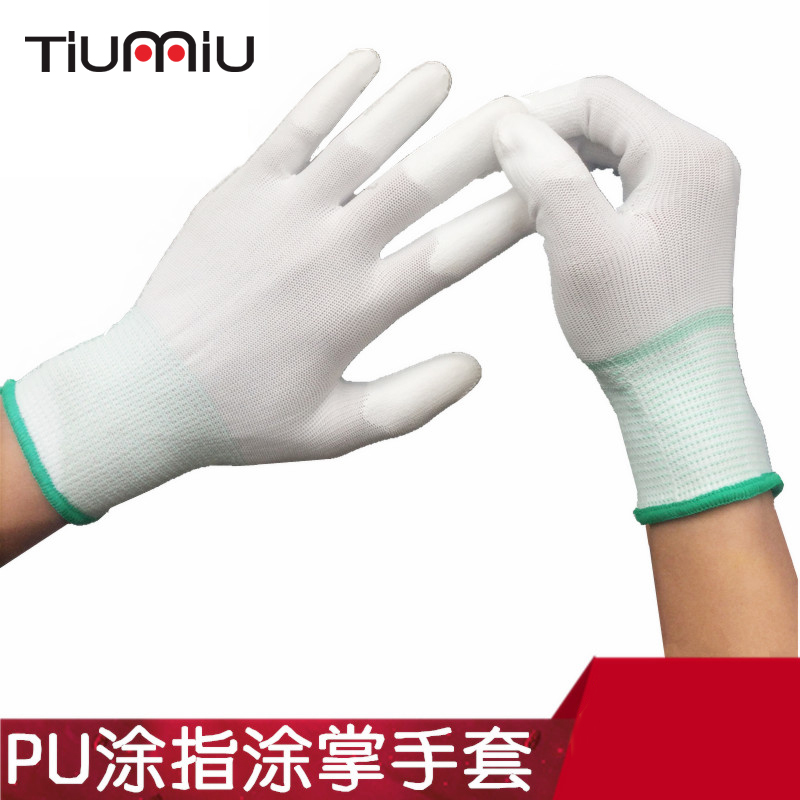 12 Pairs Gloves Workshop Auto Repair Gloves Nylon Anti-static Wear Resistance Gloves Multifunctional Breathable Work Wear Gloves