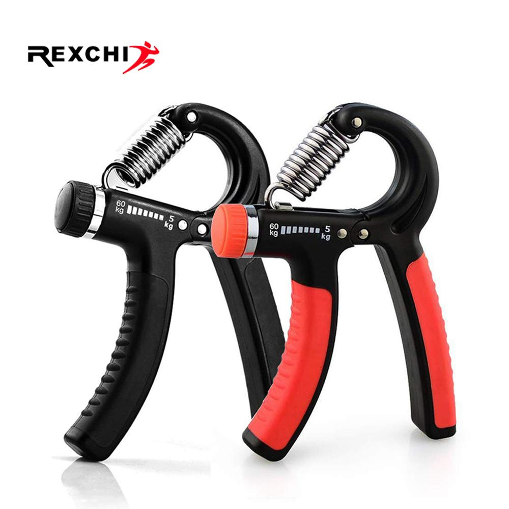 REXCHI 5-60Kg Gym Fitness Adjustable Hand Grip Finger Forearm Strength Muscle Recovery Heavy Hand Gripper Exerciser Trainer