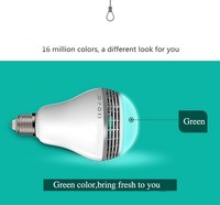 KITOSUN Intelligent LED Light Bulb E27 Bluetooth Speaker Music Player Dimmable Lamp Audio Loudspeaker With App